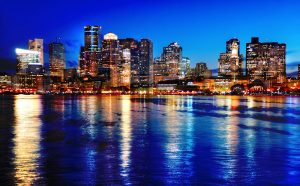 Boston Cityscape at Night 03 - stock photos and royalty-free images