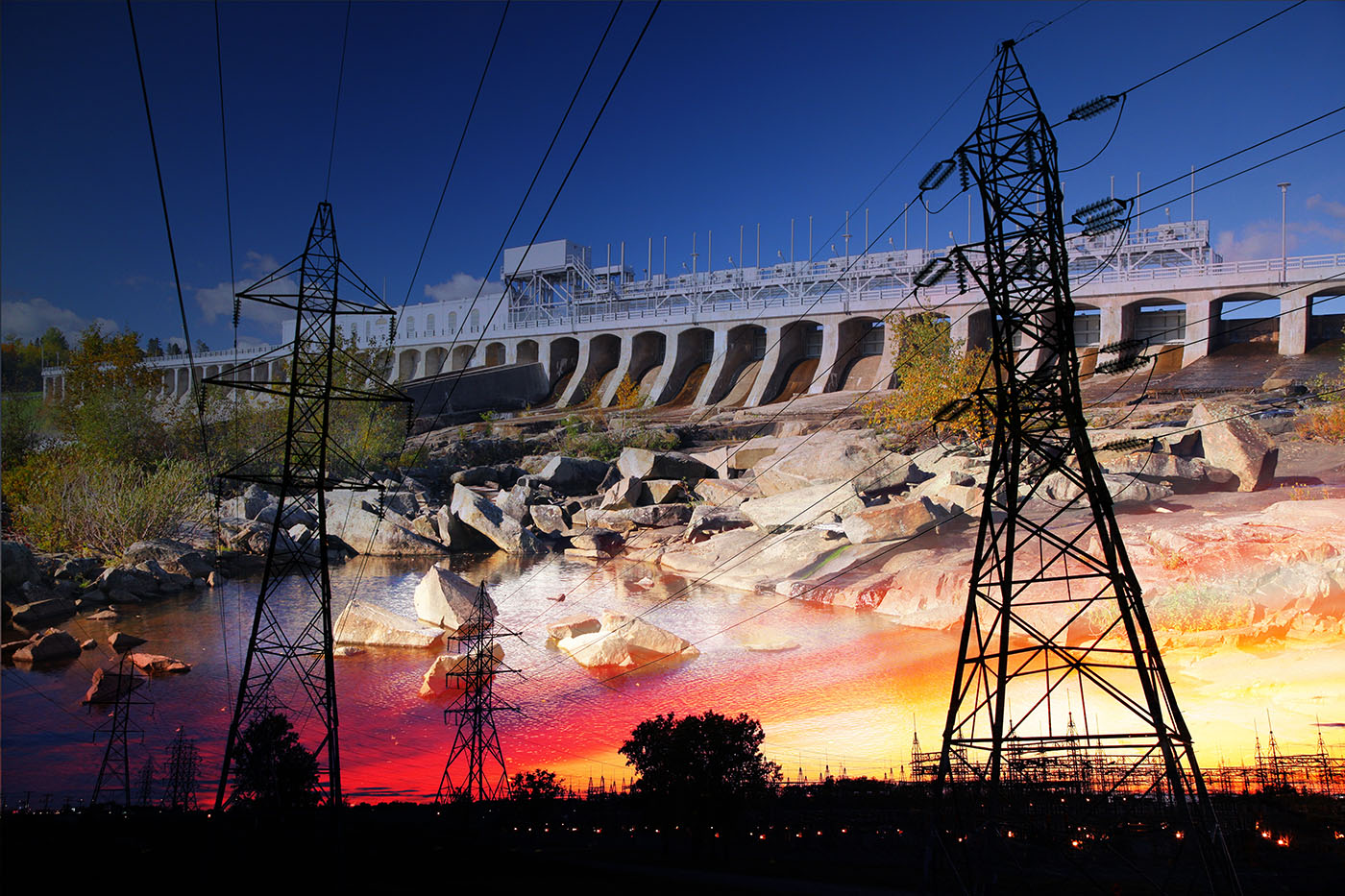 Electric Dam 03 - stock photos and royalty-free images
