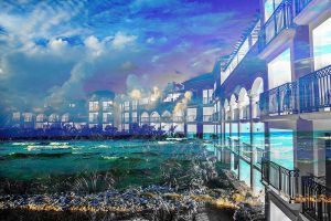 Hotel Resort Photo Montage 01 - stock photos and royalty-free images