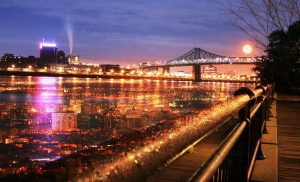 Montreal Jacques Cartier Bridge and River - stock photos and royalty-free images