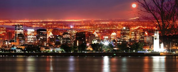 Montreal Skyline in a Beautiful Night - stock photos and royalty-free images