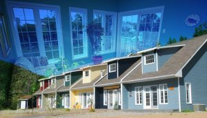 Resort Condos Photo Montage - stock photos and royalty-free images