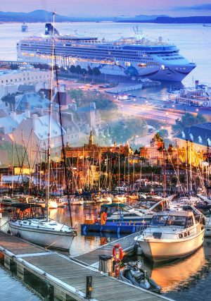 Urban Marina and Dock Photo Montage - stock photos and royalty-free images