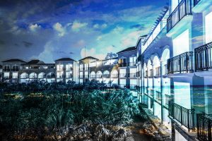 Hotel Resort Photo Montage 03 - stock photos and royalty-free images