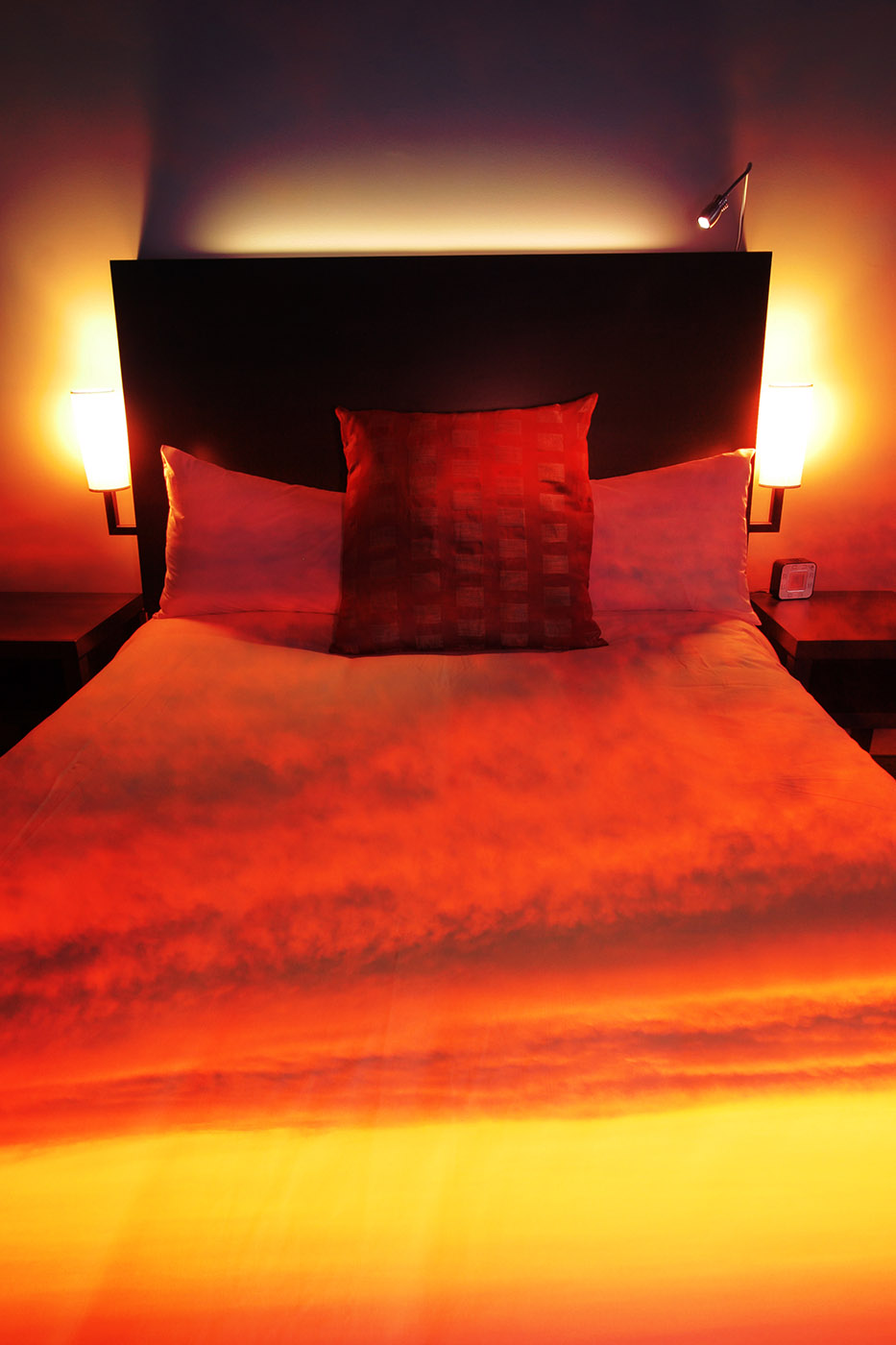 Sunset Bed Cover 2 - stock photos and royalty-free images