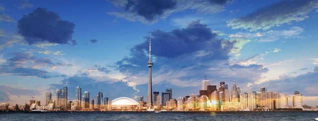 Toronto City Daytime Skyline - stock photos and royalty-free images