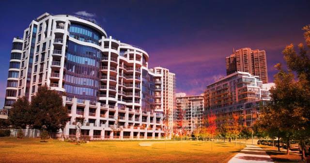 Urban Condominium Park - stock photos and royalty-free images
