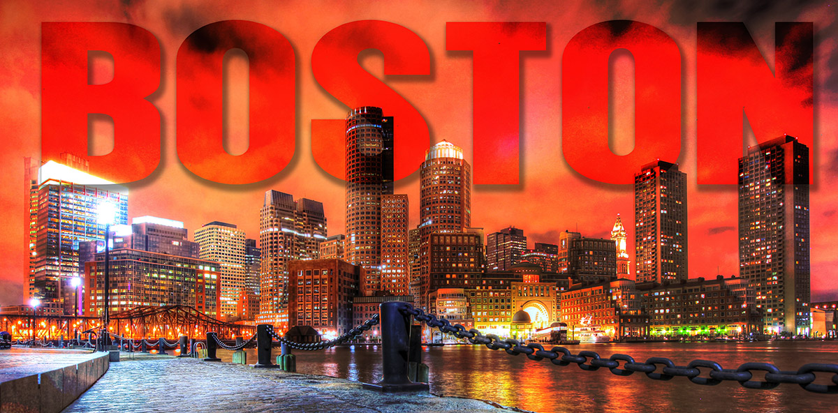 Boston City with Text 1 - stock photos and royalty-free images