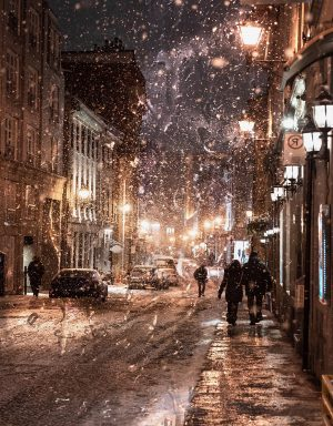 Bad Winter Weather in City Street - stock photos and royalty-free images