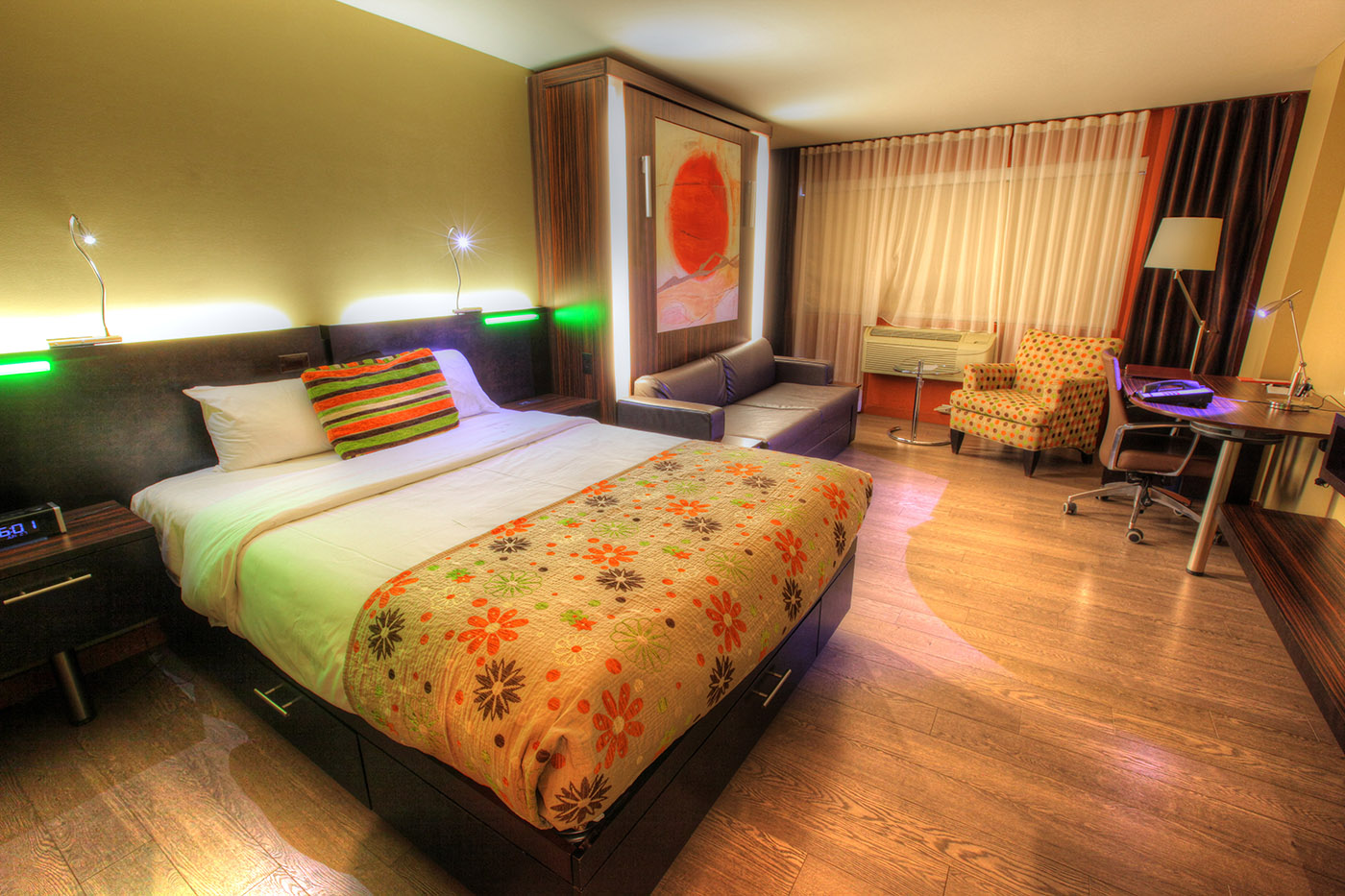 Colorful Hotel Room - stock photos and royalty-free images
