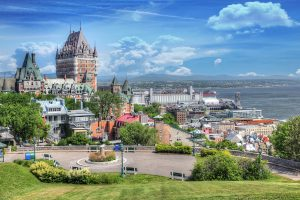 Old Quebec City District in Summer - stock photos and royalty-free images
