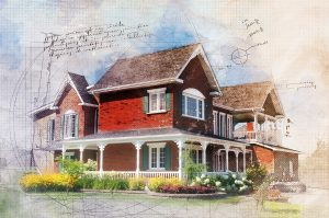Beautiful Cottage Sketch Image - stock photos and royalty-free images