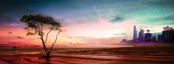 Colorful Apocalyptic Landscape 06 - stock photos and royalty-free images