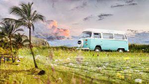 Vintage VW Camper Van Road Trip 02 - stock photos and royalty-free images