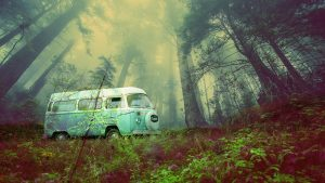 Vintage VW Camper Van Road Trip 03 - stock photos and royalty-free images