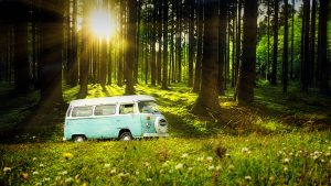 Vintage VW Camper Van Road Trip 04 - stock photos and royalty-free images