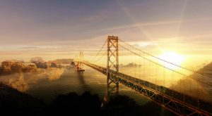 Surreal Suspension Bridge 02 - stock photos and royalty-free images