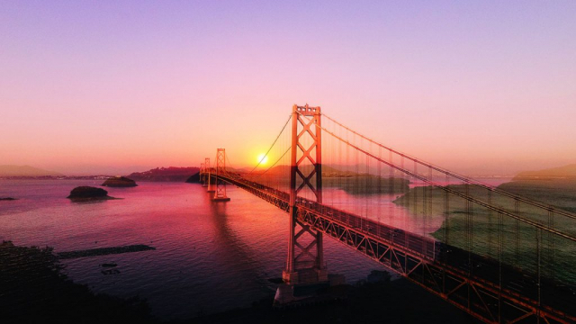 Surreal Suspension Bridge 03 - stock photos and royalty-free images