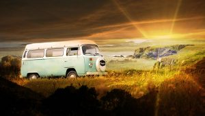 Vintage VW Camper Van Road Trip 06 - stock photos and royalty-free images