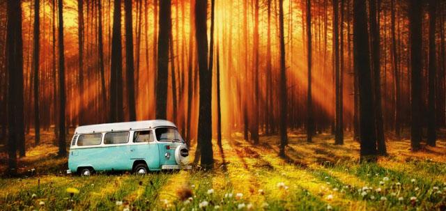 Vintage VW Camper Van Road Trip 07 - stock photos and royalty-free images