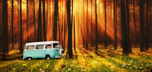 Vintage VW Camper Van Road Trip 07 - stock photos and royalty-free images