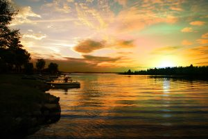 Perfect Sunset Lake - stock photos and royalty-free images