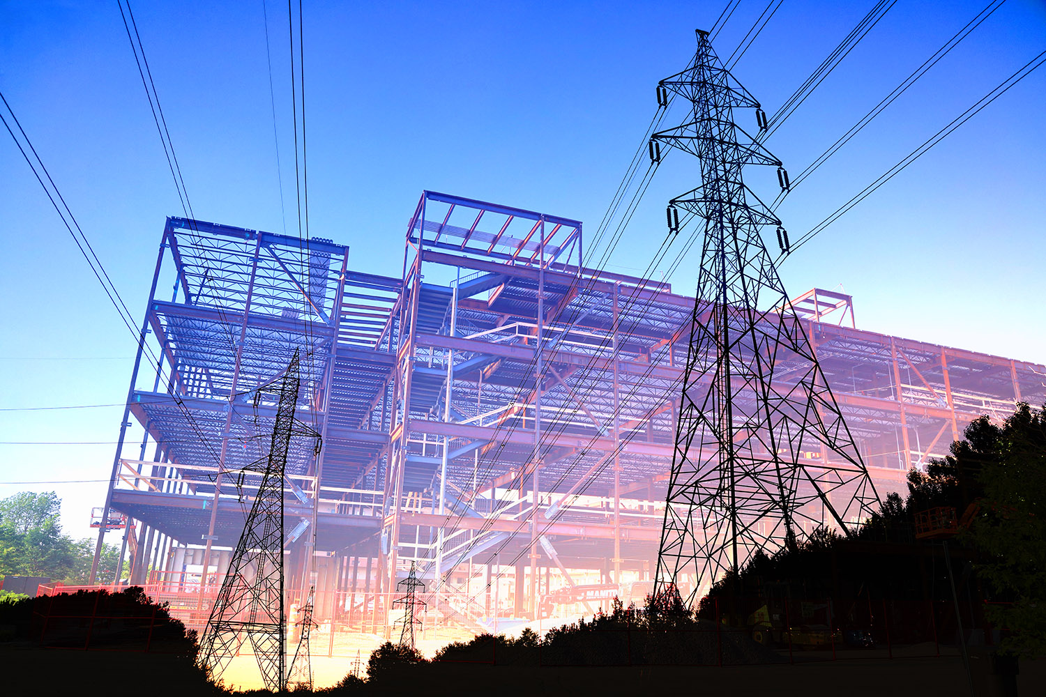 Construction Industry Electrification Concept - stock photos and royalty-free images