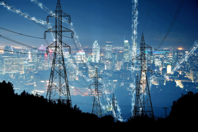 Metropolitan Electrification in Blue - stock photos and royalty-free images