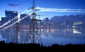 Urban Electrification in Blue - stock photos and royalty-free images