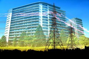 Urban Residential Building Electrification Concept - stock photos and royalty-free images