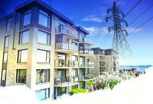 Urban Residential Electrification on White - stock photos and royalty-free images