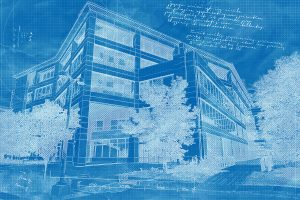 Corporate Building Construction Blueprint Design